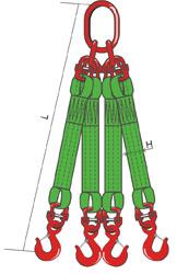 4СТ – строп текстильный четырехветвевой