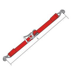 Стяжной ремень с крюками
