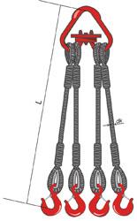 4СК – строп канатный четырехветвевой